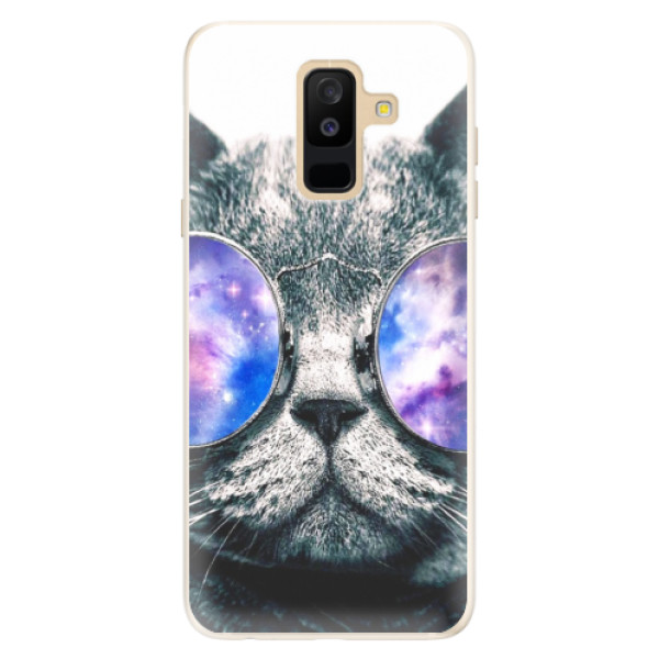 Silikónové puzdro iSaprio - Galaxy Cat - Samsung Galaxy A6+