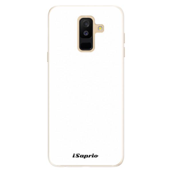 Silikónové puzdro iSaprio - 4Pure - bílý - Samsung Galaxy A6+