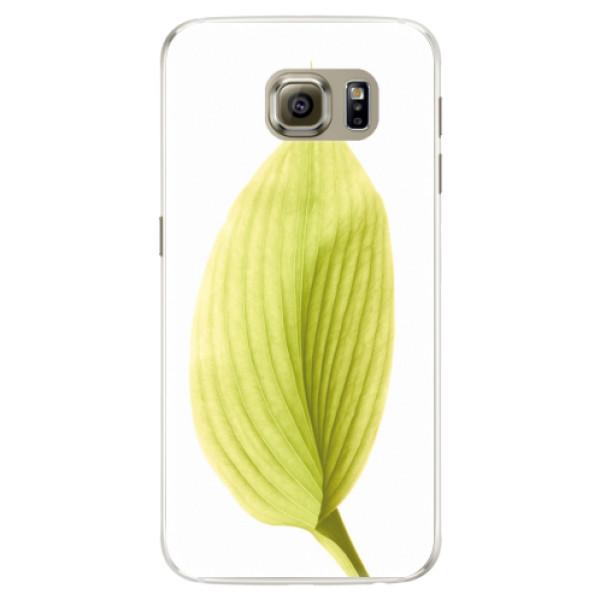 Silikónové puzdro iSaprio - Green Leaf - Samsung Galaxy S6