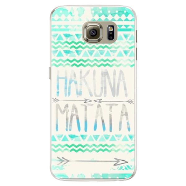 Silikónové puzdro iSaprio - Hakuna Matata Green - Samsung Galaxy S6