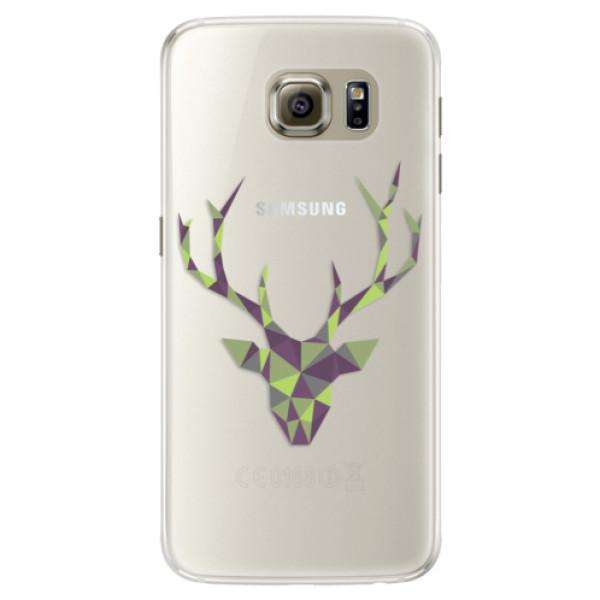 Silikónové puzdro iSaprio - Deer Green - Samsung Galaxy S6
