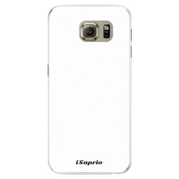 Silikónové puzdro iSaprio - 4Pure - bílý - Samsung Galaxy S6