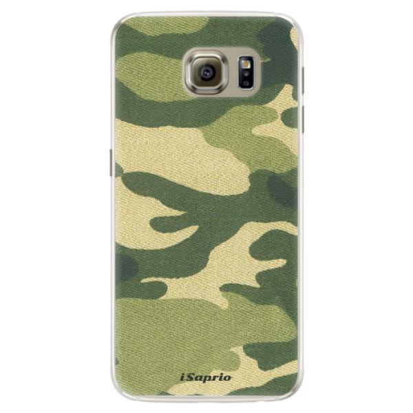 Silikónové puzdro iSaprio - Green Camuflage 01 - Samsung Galaxy S6 Edge