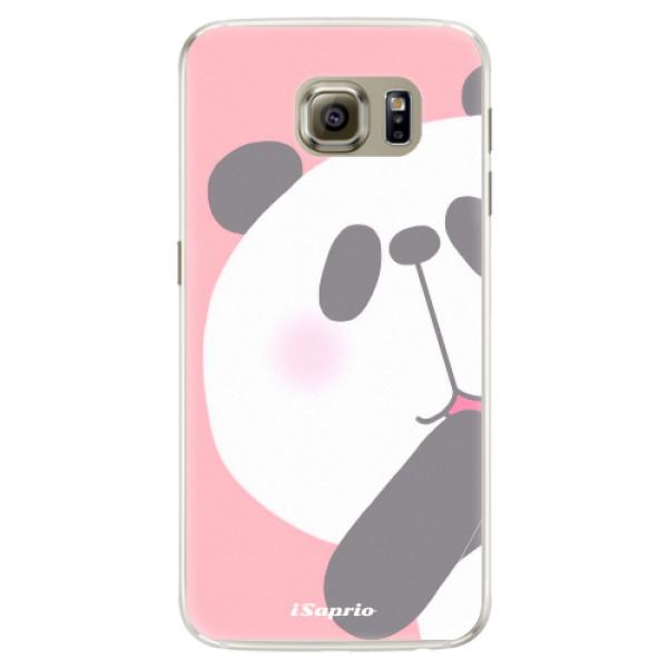 Silikónové puzdro iSaprio - Panda 01 - Samsung Galaxy S6 Edge