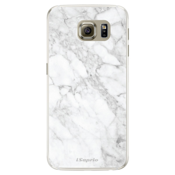 Silikónové puzdro iSaprio - SilverMarble 14 - Samsung Galaxy S6 Edge