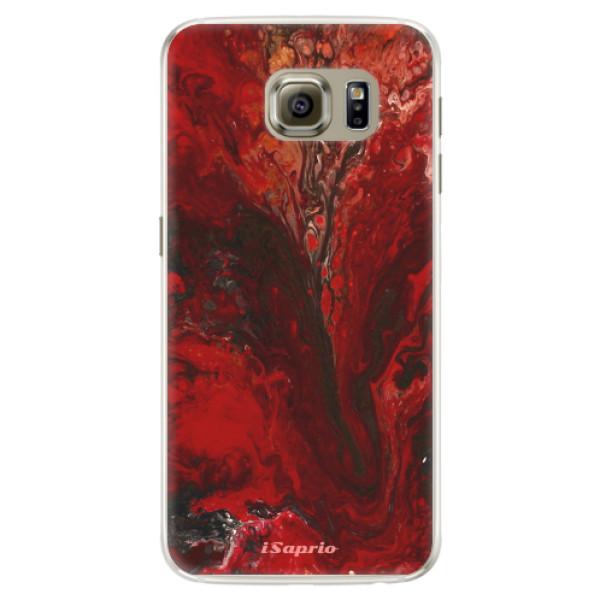 Silikónové puzdro iSaprio - RedMarble 17 - Samsung Galaxy S6 Edge