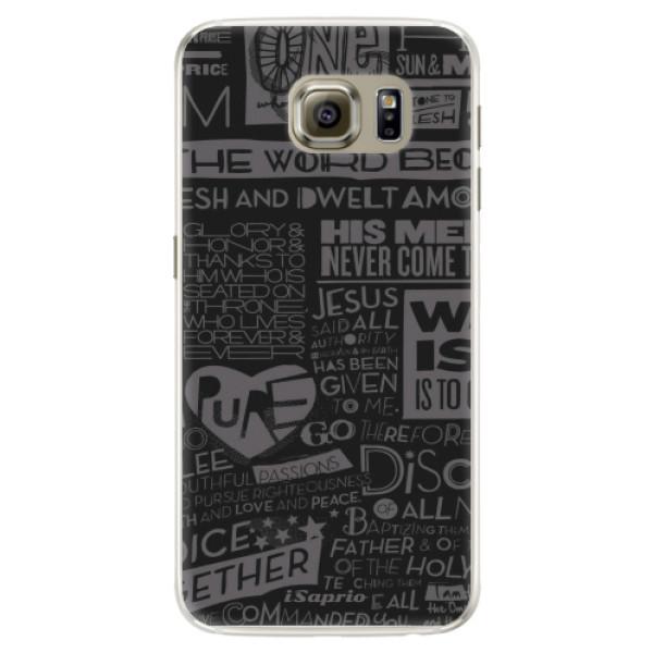 Silikónové puzdro iSaprio - Text 01 - Samsung Galaxy S6 Edge