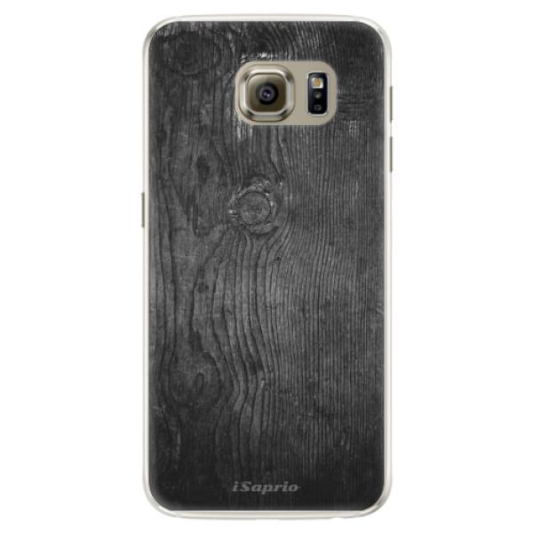 Silikónové puzdro iSaprio - Black Wood 13 - Samsung Galaxy S6 Edge