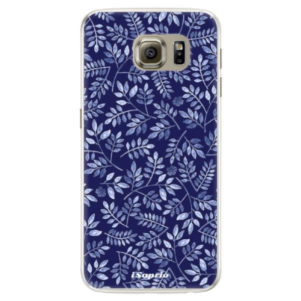 Silikónové puzdro iSaprio - Blue Leaves 05 - Samsung Galaxy S6 Edge