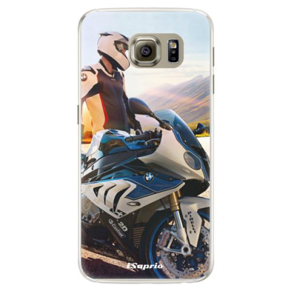 Silikónové puzdro iSaprio - Motorcycle 10 - Samsung Galaxy S6 Edge