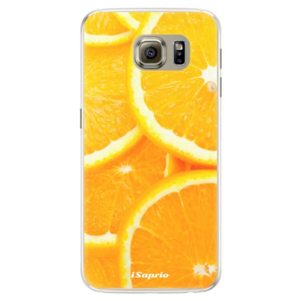 Silikónové puzdro iSaprio - Orange 10 - Samsung Galaxy S6 Edge