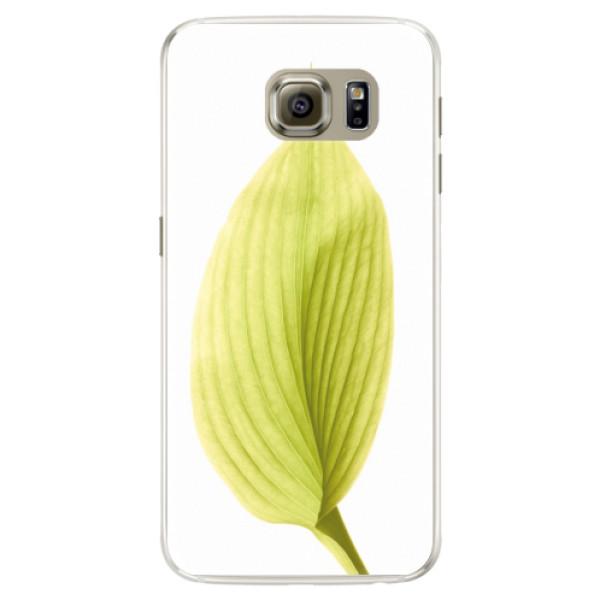 Silikónové puzdro iSaprio - Green Leaf - Samsung Galaxy S6 Edge