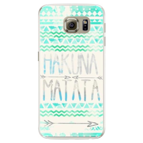 Silikónové puzdro iSaprio - Hakuna Matata Green - Samsung Galaxy S6 Edge