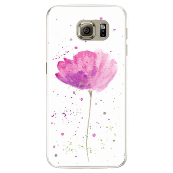 Silikónové puzdro iSaprio - Poppies - Samsung Galaxy S6 Edge