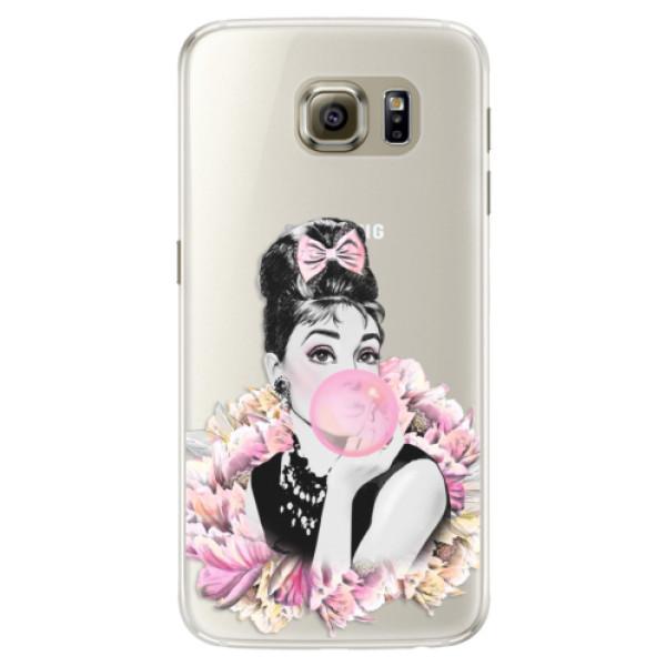 Silikónové puzdro iSaprio - Pink Bubble - Samsung Galaxy S6 Edge
