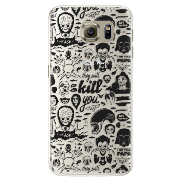 Silikónové puzdro iSaprio - Comics 01 - black - Samsung Galaxy S6 Edge