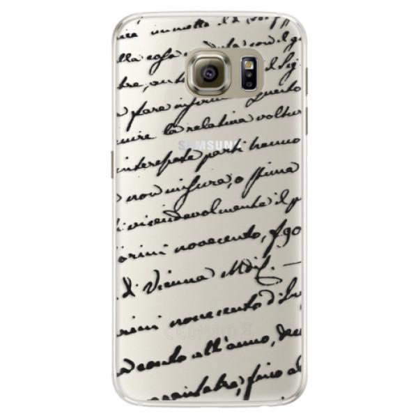 Silikónové puzdro iSaprio - Handwriting 01 - black - Samsung Galaxy S6 Edge