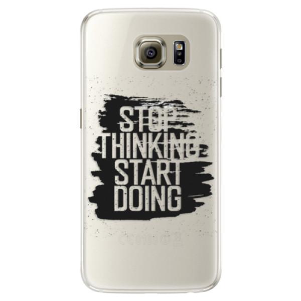 Silikónové puzdro iSaprio - Start Doing - black - Samsung Galaxy S6 Edge