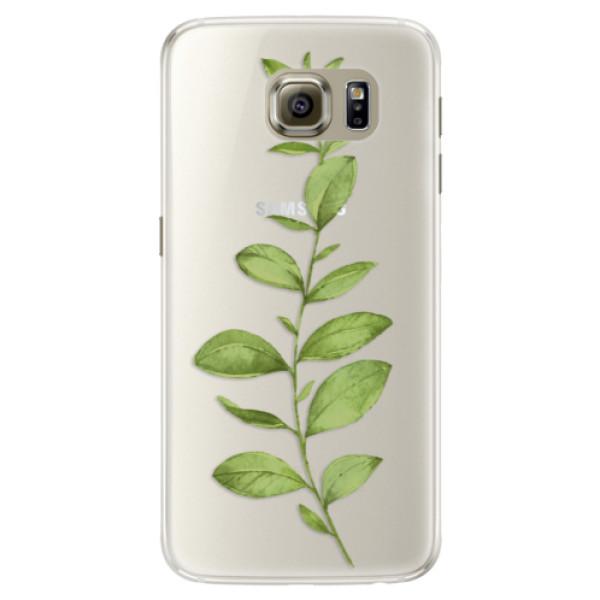 Silikónové puzdro iSaprio - Green Plant 01 - Samsung Galaxy S6 Edge