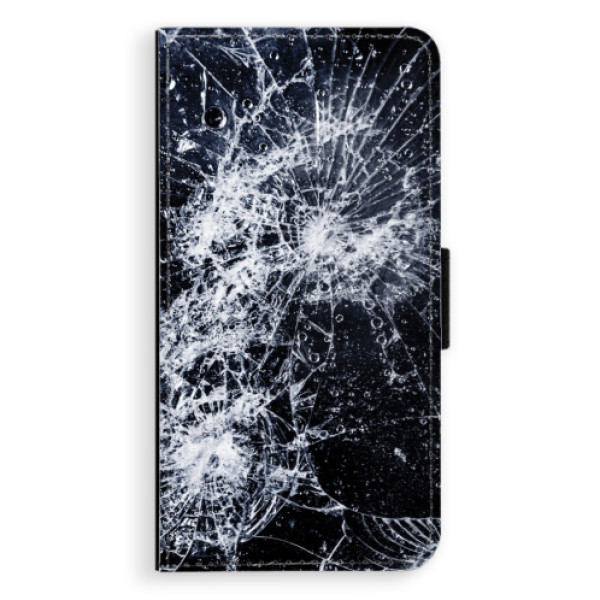 Flipové puzdro iSaprio - Cracked - iPhone XS Max