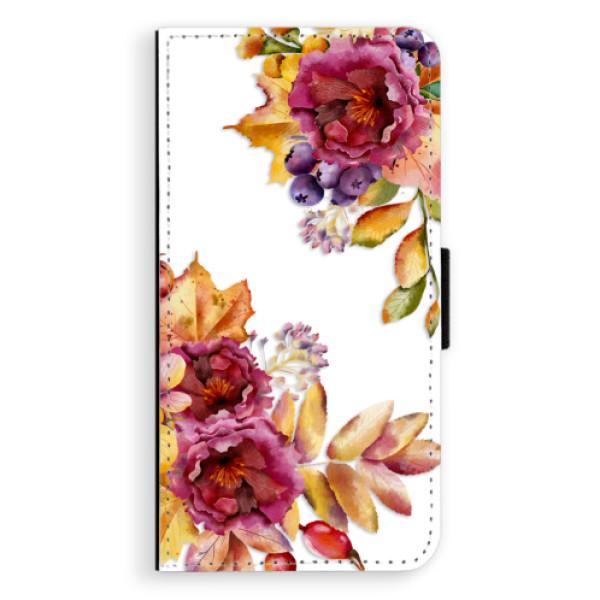 Flipové puzdro iSaprio - Fall Flowers - iPhone XS Max