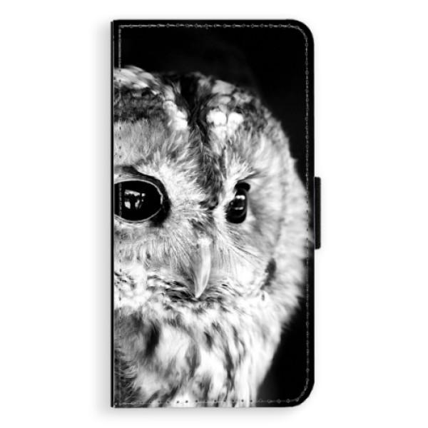 Flipové puzdro iSaprio - BW Owl - iPhone XS Max
