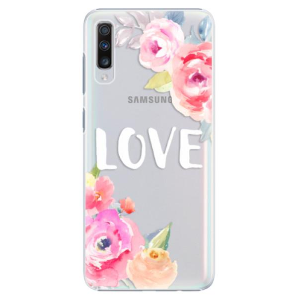 Plastové puzdro iSaprio - Love - Samsung Galaxy A70