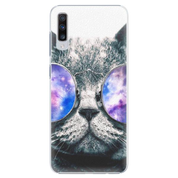 Plastové puzdro iSaprio - Galaxy Cat - Samsung Galaxy A70