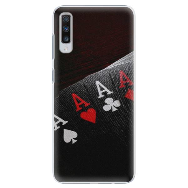 Plastové puzdro iSaprio - Poker - Samsung Galaxy A70
