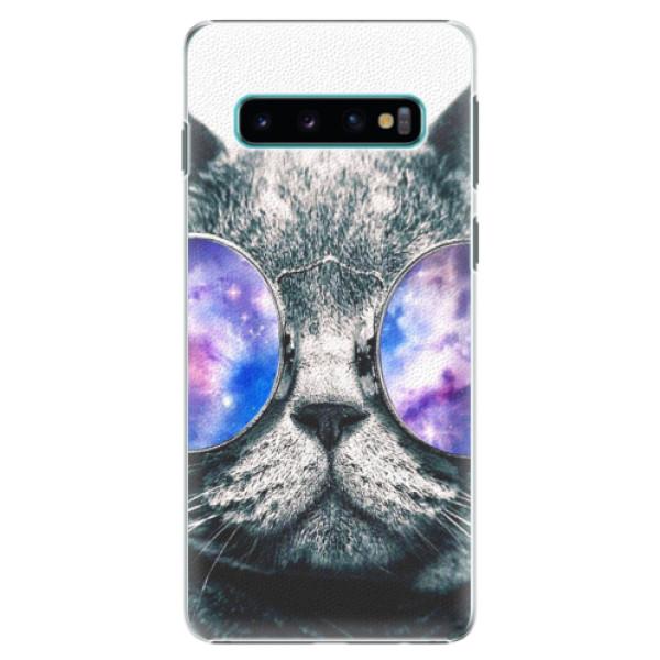 Plastové puzdro iSaprio - Galaxy Cat - Samsung Galaxy S10