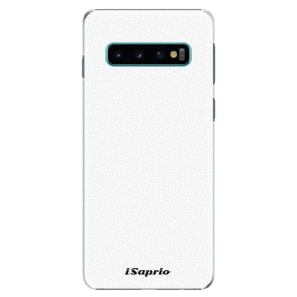 Plastové puzdro iSaprio - 4Pure - bílý - Samsung Galaxy S10