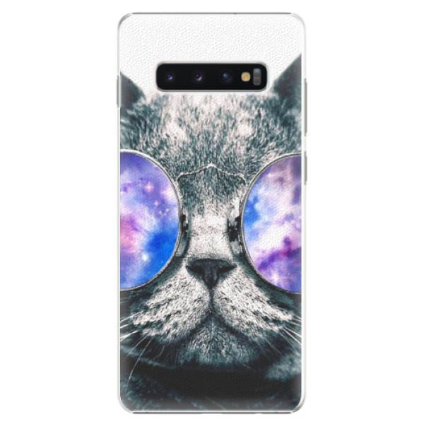 Plastové puzdro iSaprio - Galaxy Cat - Samsung Galaxy S10+