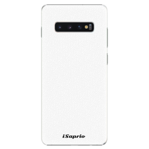 Plastové puzdro iSaprio - 4Pure - bílý - Samsung Galaxy S10+