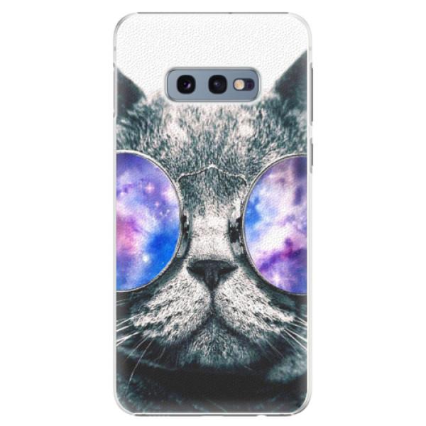 Plastové puzdro iSaprio - Galaxy Cat - Samsung Galaxy S10e