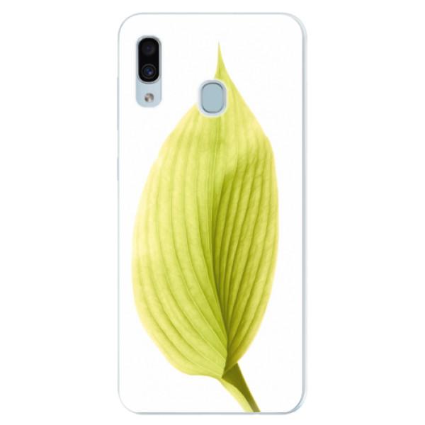 Silikónové puzdro iSaprio - Green Leaf - Samsung Galaxy A30