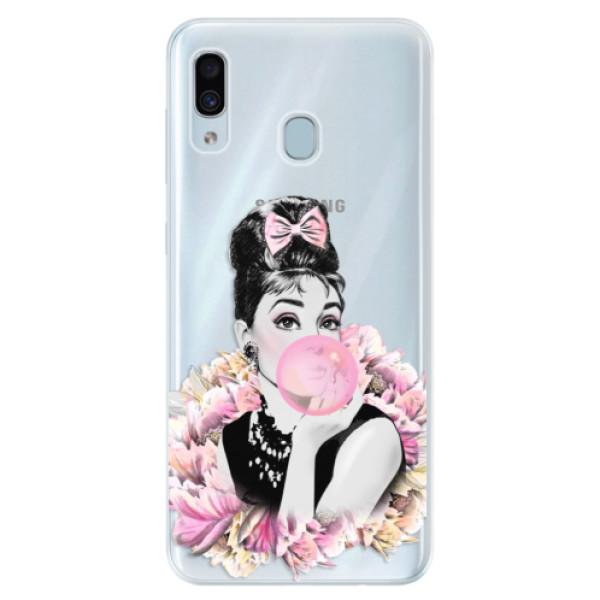 Silikónové puzdro iSaprio - Pink Bubble - Samsung Galaxy A30