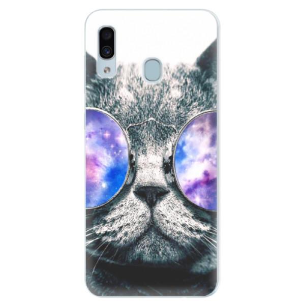 Silikónové puzdro iSaprio - Galaxy Cat - Samsung Galaxy A30