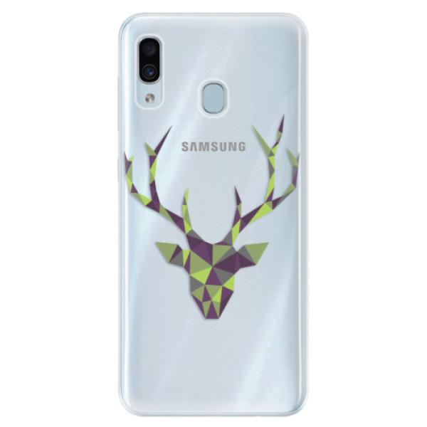 Silikónové puzdro iSaprio - Deer Green - Samsung Galaxy A30