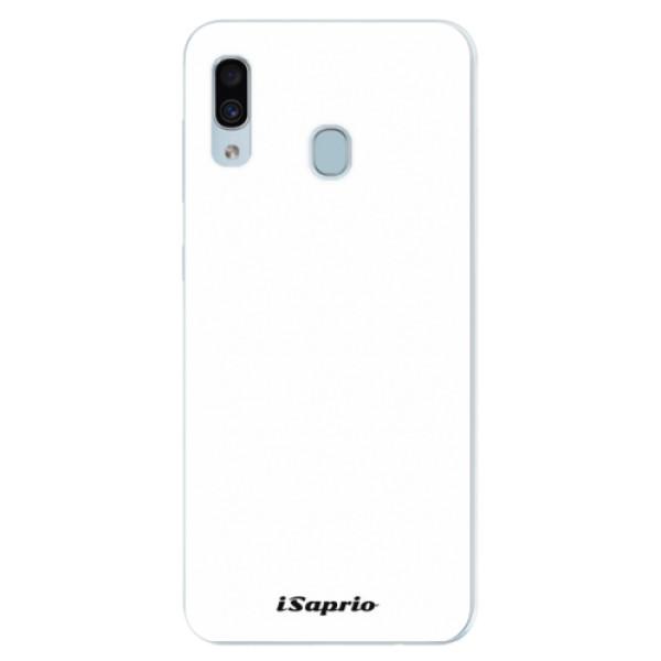 Silikónové puzdro iSaprio - 4Pure - bílý - Samsung Galaxy A30