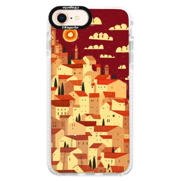 Silikónové púzdro Bumper iSaprio - Mountain City - iPhone 8