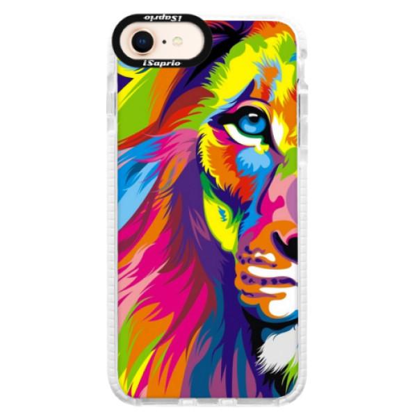 Silikónové púzdro Bumper iSaprio - Rainbow Lion - iPhone 8
