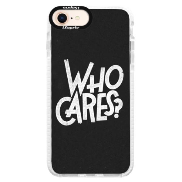 Silikónové púzdro Bumper iSaprio - Who Cares - iPhone 8