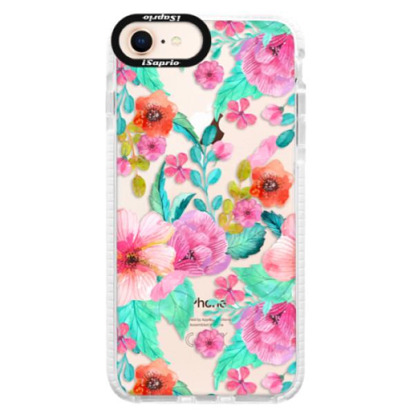 Silikónové púzdro Bumper iSaprio - Flower Pattern 01 - iPhone 8