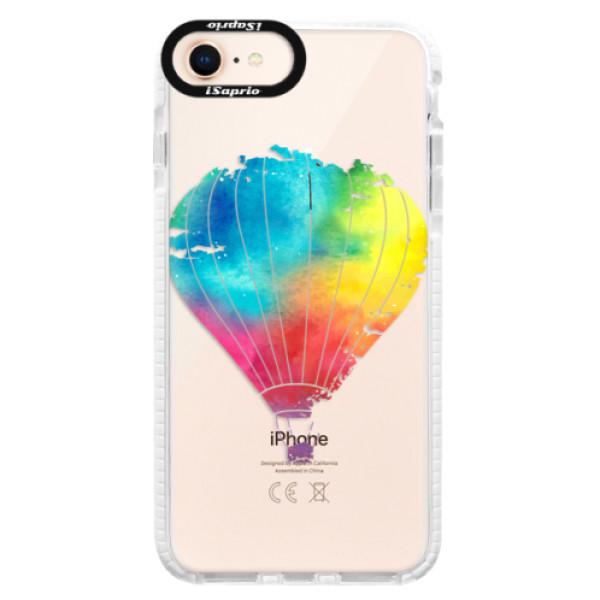 Silikónové púzdro Bumper iSaprio - Flying Baloon 01 - iPhone 8