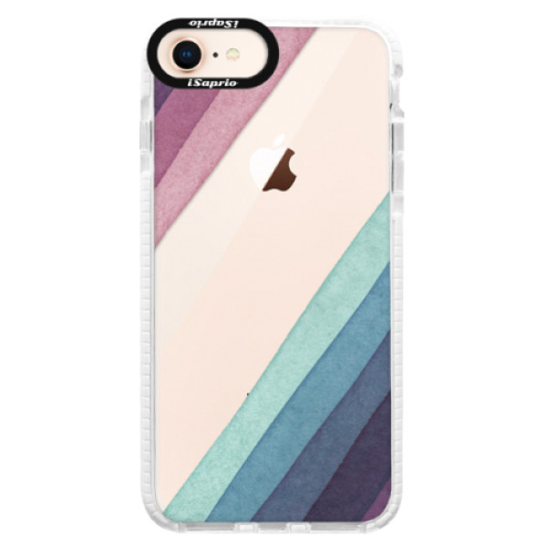 Silikónové púzdro Bumper iSaprio - Glitter Stripes 01 - iPhone 8