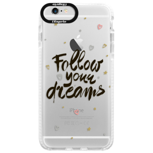 Silikónové púzdro Bumper iSaprio - Follow Your Dreams - black - iPhone 6 Plus/6S Plus