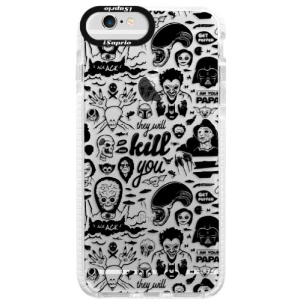 Silikónové púzdro Bumper iSaprio - Comics 01 - black - iPhone 6 Plus/6S Plus