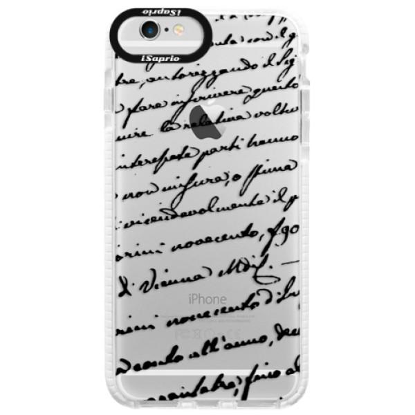 Silikónové púzdro Bumper iSaprio - Handwriting 01 - black - iPhone 6 Plus/6S Plus
