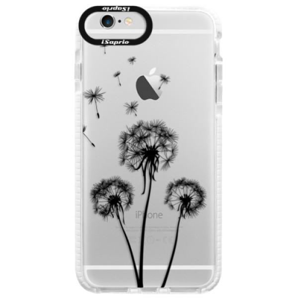 Silikónové púzdro Bumper iSaprio - Three Dandelions - black - iPhone 6 Plus/6S Plus