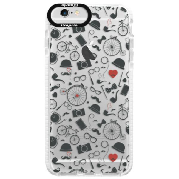 Silikónové púzdro Bumper iSaprio - Vintage Pattern 01 - black - iPhone 6 Plus/6S Plus
